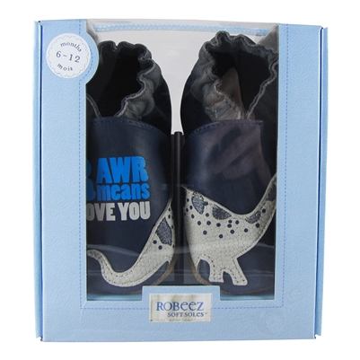 Dylan the Dino Soft Soles 6-12 months - Navy (Robeez)