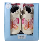 Butterfly Kisses Soft Soles 6-12 months - Cream (Robeez)