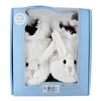 Fuzzy Bunny Soft Soles 6-12 months - White (Robeez)