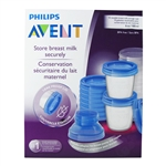 Breast Milk Storage Cups - 10 cups (Philips Avent)