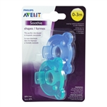 Soothie Pacifier 0-3m 2 pack  - Green/Blue (Philips Avent)