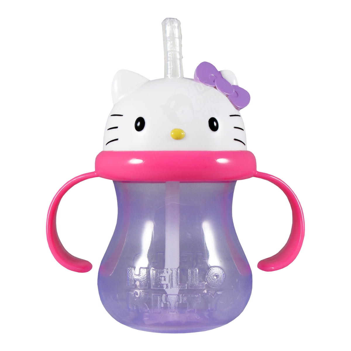 Hello Kitty Straw Cup 8 Oz Munchkin Lock Ampamp Spoon Fork Set