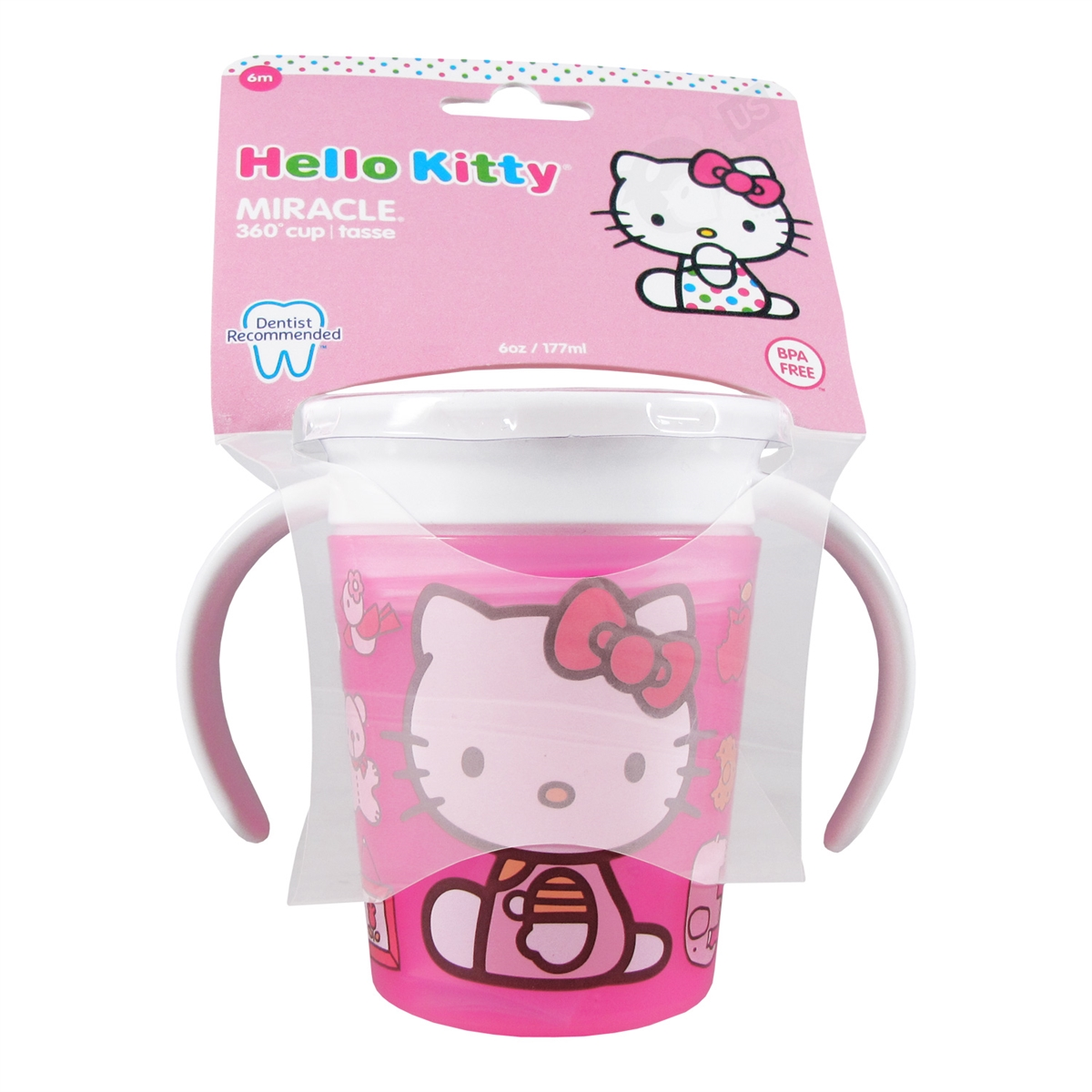 Hello Kitty Miracle 360 Cup 6 Oz Munchkin Easy Squeezy Spoon Baby Utensils