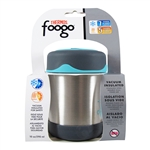 Foogo Vacuum Insulated Food Jar Charcoal and Teal - 10 oz. (Thermos)