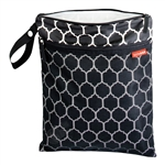 Grab & Go Wet/Dry Bag Onyx Tile (Skip Hop)