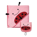Zoo Hooded Towel & Mitt Set Ladybug (Skip Hop)