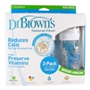 Natural Flow Wide-Neck Bottle 3 pack - 8 oz. (Dr. Brown's)