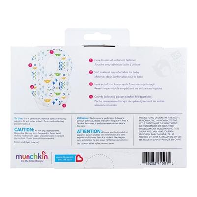 Munchkin Disposable Bibs 24 Bibs Per Pack 3 Packs