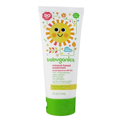 Mineral-Based Sunscreen 50+SPF - 6 oz. (Babyganics)