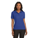 Ladies Rib Silk Touch Sport Shirt (Short Sleeve)