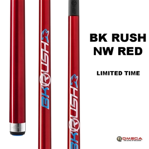 Predator Break Cue - BK RUSH No Wrap Cue RED