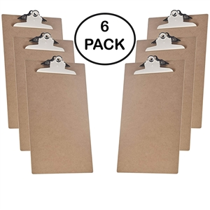 "Acrimet Clipboard Legal Size (15 3/8"" x 9 1/16"") Jumbo Clip Hardboard (6 Pack)"