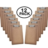 "Acrimet Clipboard Letter Size A4 (13"" x 9 1/16"") Low Profile Clip (Hardboard) (12 Pack)"