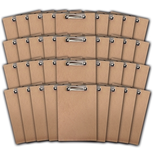 "Acrimet Clipboard Letter Size A4 (13"" x 9 1/16"") Low Profile Clip (Hardboard) (36 Pack)"