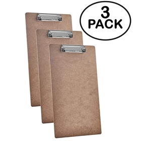 "Acrimet Clipboard Legal Size (15 3/8"" x 9 1/16"") Low Profile Clip (Hardboard) (3 Pack)"