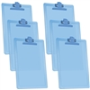 "Acrimet Clipboard Letter Size A4 (13 3/8"" x 9 1/2"") Premium Metal Clip (Plastic) (Clear Blue Color) (6 Pack)"