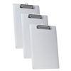 Acrimet Clipboard Letter Size Low Profile Clip (Plastic) (White Color) (3 Pack)