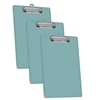 Acrimet Clipboard Low Profile Clip Letter Size (Solid Green Color) (3 Pack)
