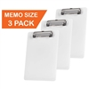 "Acrimet Clipboard Memo Size A5 (9 1/4"" x 6 5/16"") Low Profile Clip (Plastic) (White Color) (3 Pack)"
