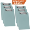 "Acrimet Clipboard Memo Size 9 1/4"" X 6 5/16"" Low Profile Clip (Solid Green Color) (Pack - 6) Code 137C.VO"