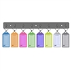 Acrimet Key Tag Rack w/ 8 Keyring Tags (Assorted Colors) Code 143.1