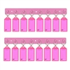 Acrimet Key Tag Rack w/8 Keyring Tags 2-Pack (Pink Color) Code 143.5