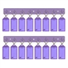 Acrimet Key Tag Rack w/8 Keyring Tags 2-Pack (Purple Color) Code 143.6