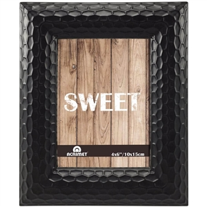"Acrimet Photo Picture Frame 4"" x 6"" for Tabletop (Black Color) 15.1"