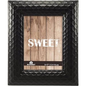 "Acrimet Photo Picture Frame 5 x 7"" for Tabletop (Black Color) 15.2"
