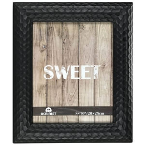 "Acrimet Photo Picture Frame 8"" x 10"" for Tabletop (Black Color) 15.3"