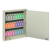 Acrimet Key Cabinet Organizer 24 Positions with Lock (Wall Mount) (24 Multicolored Tags Included) (Beige Cabinet)
