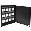 Acrimet Key Cabinet Organizer 24 Positions with Lock (Wall Mount) (24 Smoke Tags Included) (Black Cabinet)