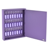 Acrimet Key Cabinet Organizer 24 Positions with Lock (Wall Mount) (24 Purple Tags Included) (Purple Cabinet)
