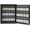 Acrimet Key Cabinet Organizer 48 Positions with Lock (Wall Mount) (48 Smoke Tags Included) (Black Cabinet)