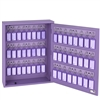 Acrimet Key Cabinet Organizer 48 Positions with Lock (Wall Mount) (48 Purple Tags Included) (Purple Cabinet)