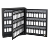 Acrimet Key Cabinet Organizer 96 Positions with Lock (Wall Mount) (96 Smoke Tags Included) (Black Cabinet)