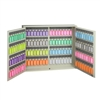 Acrimet Key Cabinet Organizer 128 Positions with Lock (Wall Mount) (128 Multicolored Tags Included) (Beige Cabinet)