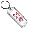 Premium Key Tag 3″ Crystal Color (24 Pack) (With Ring) Code 207.6