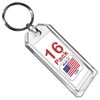 Premium Key Tag 3″ Crystal Color (16 Pack) (With Ring) Code 208.0