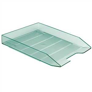 Acrimet Stackable Letter Tray (Clear Green Color) (1 Unit) Code 211.5