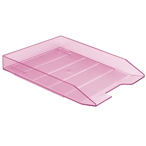 Acrimet Stackable Letter Tray (Clear Pink Color) (1 Unit) Code 211.8