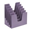 Acrimet Incline Desk File Sorter Step 5 Sections Heavy Duty (Solid Purple Color) COD 225.3
