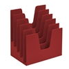 Acrimet Incline Desk File Sorter Step 5 Sections Heavy Duty (Red Color) COD 225.9