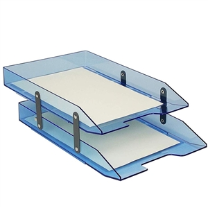 Acrimet Collapsible Articulated Letter Tray Double (Clear Blue Color) Code 243.2