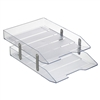 Acrimet Collapsible Articulated Letter Tray Double (Crystal Color) Code 243.3