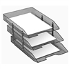 Acrimet Collapsible Articulated Letter Tray Triple (Smoke Color) Code 245.1