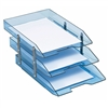 Acrimet Collapsible Articulated Letter Tray Triple (Clear Blue Color) Code 245.2