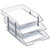 Acrimet Collapsible Articulated Letter Tray Triple (Crystal Color) Code 245.3