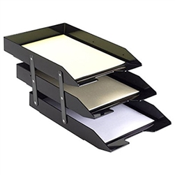Acrimet Collapsible Articulated Letter Tray Triple (Black Color) Code 245.4