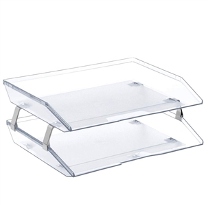 Acrimet Facility 2 Tiers Double Letter Tray (Clear Crystal Color) Code 253.3